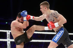 FCC Final Fight Championship. Fight show FFC 27 Final Fight Championship in Arena Zagreb, December 17. 2016. FFC fight between Ivan Bilic R from Croatia and Royalty Free Stock Image