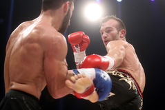 FCC Final Fight Championship. Zagreb, 17.12.2016 - Fight show FFC 27 Final Fight Championship in Arena Zagreb, December 17. 2016. FFC fight between Tigran Stock Photos