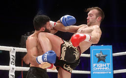 FCC Final Fight Championship. Zagreb, 17.12.2016 - Fight show FFC 27 Final Fight Championship in Arena Zagreb, December 17. 2016. FFC fight between Tigran stock photography