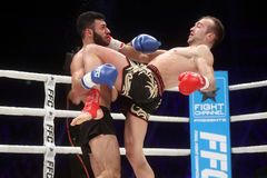 FCC Final Fight Championship. Zagreb, 17.12.2016 - Fight show FFC 27 Final Fight Championship in Arena Zagreb, December 17. 2016. FFC fight between Tigran Stock Image