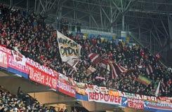 FCet Bayern Munich team supportrar Royaltyfri Fotografi