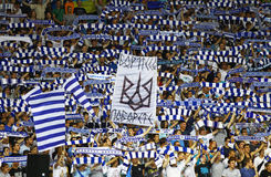 FCet Dynamo Kyiv team supportrar Arkivbilder