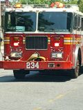 Fd fire department. Fire truck new York city royalty free stock photo