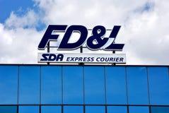 FD&L, schnelle Lieferungen u. Logistik Lizenzfreies Stockfoto