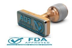 FDA批准的产品或药物 库存例证