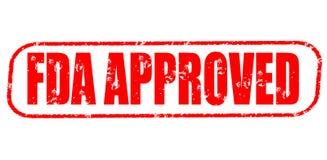 FDA批准的邮票 免版税库存照片