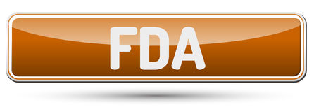 FDA - Abstract beautiful button with text. Royalty Free Stock Image