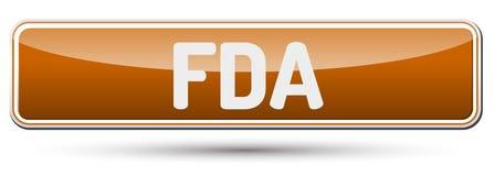 FDA - Abstrakter schöner Knopf mit Text Lizenzfreies Stockbild