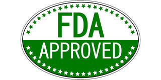 FDA approved oval sticker Stock Photos