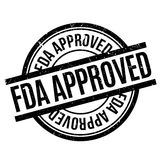 Fda Approved rubber stamp Royalty Free Stock Photos