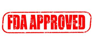 Fda approved stamp. Fda approved red stamp on white Royalty Free Stock Photo