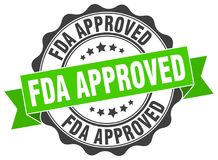 Fda approved stamp. seal. Fda approved stamp. sign. seal royalty free illustration