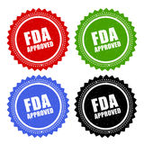 Fda approved stamp. S set on white background Royalty Free Stock Image