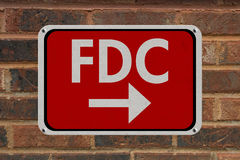 FDC Sign Royalty Free Stock Photo