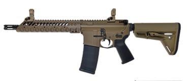 FDE SBR AR15/M16 с 30rd mag стоковое изображение