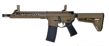 FDE SBR AR15 / M16 with 30rd mag Stock Image