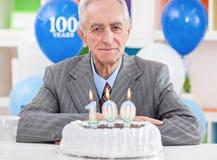 100. födelsedag Arkivfoton