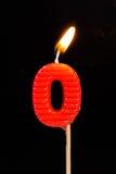 Födelsedag-årsdag stearinljusnummer Royaltyfri Bild