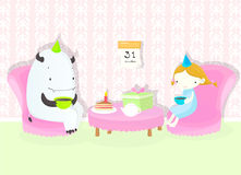 födelsedagmonster s Arkivbild
