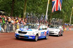 FDJ equipo del franco en Tour de France Fotos de archivo libres de regalías