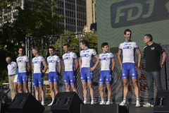 FDJ Fachmann-Radsportteam Stockbilder