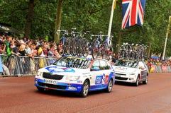 FDJ het team van Fr in Ronde van Frankrijk Royalty-vrije Stock Foto's