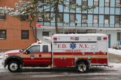 FDNY Ambulance in Brooklyn Royalty Free Stock Photo