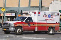 FDNY Ambulance in Brooklyn Royalty Free Stock Image