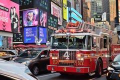 FDNY-brandlastbil i Manhattan, NYC arkivbilder