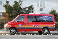 The FDNY fire family transport foundation van in Brooklyn Royalty Free Stock Photos