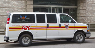 The FDNY fire family transport foundation van Stock Photos