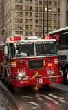 FDNY fire truck with lettering Stock Photography