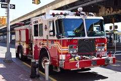 FDNY fire truck. NEW YORK CITY, USA - APRIL 17, 2016 : FDNY fire truck stock images