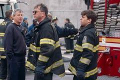 FDNY firefighters on duty, New York City, USA Stock Photography