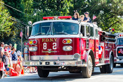 FDNY at Fourth of July Parade Stock Photography
