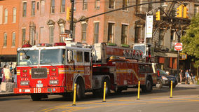 FDNY Ladder Company 118 a Brooklyn Immagini Stock