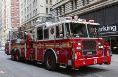 FDNY-Ladderbedrijf 21 in uit het stadscentrum Manhattan Royalty-vrije Stock Foto