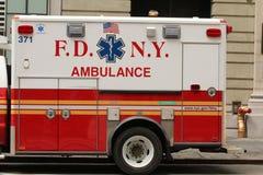 FDNY-medel som parkeras i New York City Fotografering för Bildbyråer