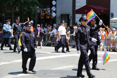 FDNY members at LGBT Pride Parade in New York City Royalty Free Stock Images
