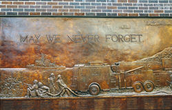 FDNY memorial wall Royalty Free Stock Photography