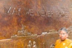 FDNY-minnesmärke New York Royaltyfri Fotografi