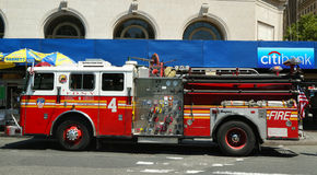 FDNY-Motor 4 in Lower Manhattan Stock Afbeelding