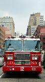 FDNY Tower Ladder 12 truck in Manhattan Royalty Free Stock Photography