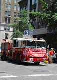 FDNY truck at LGBT Pride Parade in New York City Royalty Free Stock Images