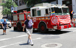 FDNY truck  at LGBT Pride Parade in New York City Royalty Free Stock Photography