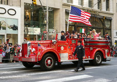 FDNY Vehicle on Parade Royalty Free Stock Images