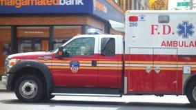FDNY-Ziekenwagen Royalty-vrije Stock Afbeeldingen