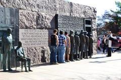 FDR-Denkmal, Suppen-Linie, Washington DC, nationales Mall Lizenzfreies Stockfoto