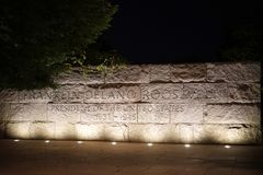 FDR-Denkmal in Washington D C Lizenzfreie Stockfotografie
