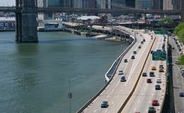 FDR Drive- Manhattan. FDR Drive in New York city Stock Photography
